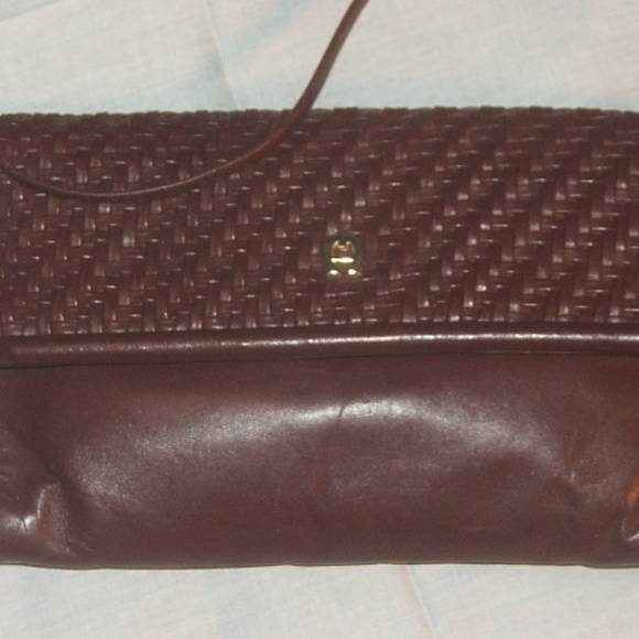 Etienne Aigner Handbags - Vintage Aigner Shoulder/Clutch Purse w/ Woven Flap